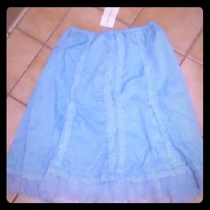 Dresses & Skirts - *NWT* Cute Baby Blue Skirt with Lace